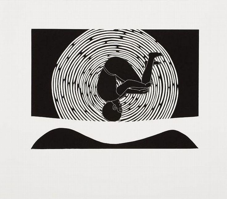 Linocut by sandile goje · south african artcontemporary artworkart