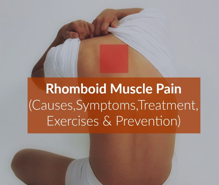 Rhomboid Muscle Pain Causes Symptoms Treatment Relief
