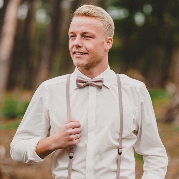 Herren Hosentrager Schmal Altrosa Altrosa Anzug Hochzeit Einstecktuch