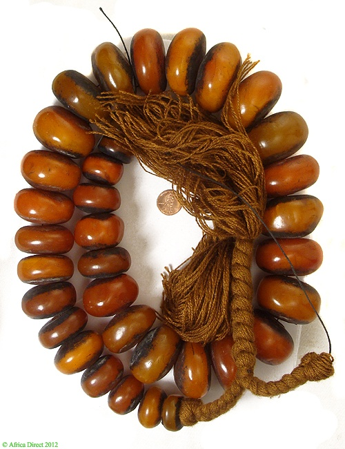 Moroccan 'Amber' Beads |  Not genuine amber, phenolic resin | strand 950.00$