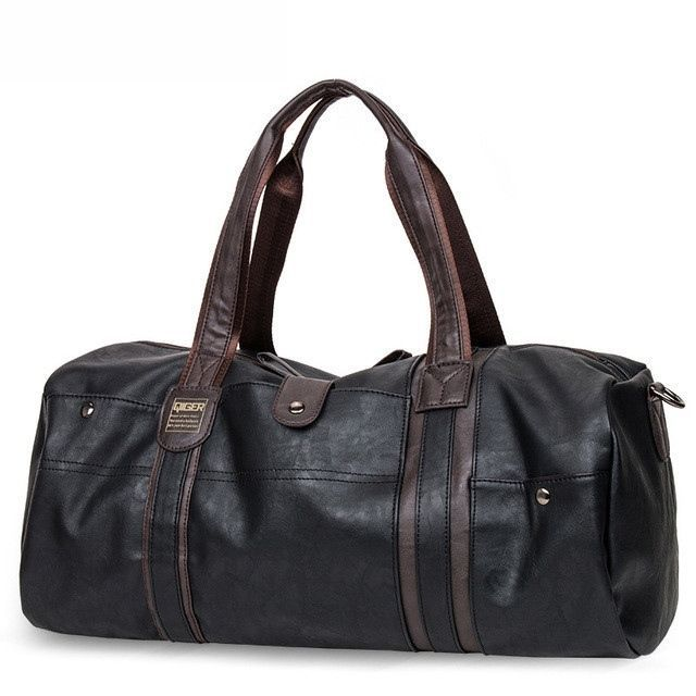 Unisex Vintage Oil Wax Leather Handbag Men Large-Capacity Portable Shoulder Bag