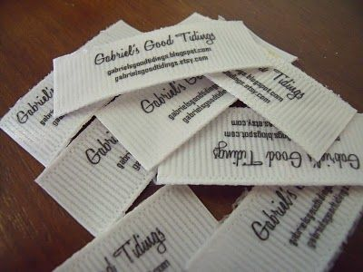 Fabric Labels- How to Make them for Cheap!   Easy, simple and inexpensive idea.