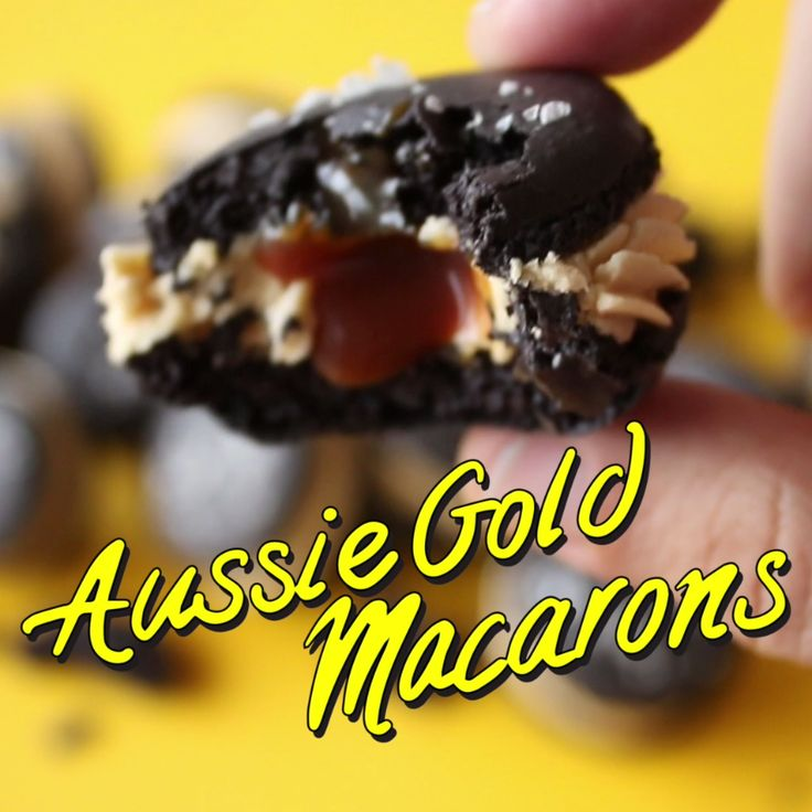 These macarons tread the delicious line between sweet and salty with Vegemite buttercream and salted caramel.