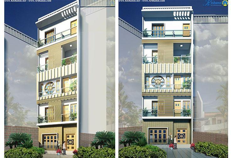 Kts Hanoi - Thiết kế nhà phố 60m 5 tầng nằm trong một phố Phường kim giang quận Thanh Xuân Hà nội, đây là một ngôi nhà khá đặc biệt vì chủ nhân của nó là nữ sống cùng 2 con 1 trai 1 gái đã lớn trên 20 tuổi.
