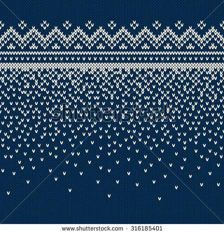 Christmas Sweater Design. Seamless Knitting Pattern - stock vector