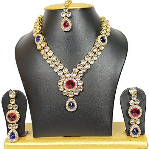 Antique Blue Red Stone Kundan Woman Indian Bollywood Earr... https://www.amazon.ca/dp/B01NAIOTOF/ref=cm_sw_r_pi_dp_x_9MpWybQJ4DWFK