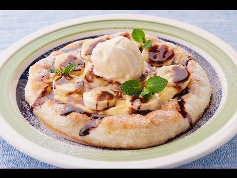 フライパンで!もちもち生地のチョコバナナピザのレシピ | 料理サプリ - YouTube