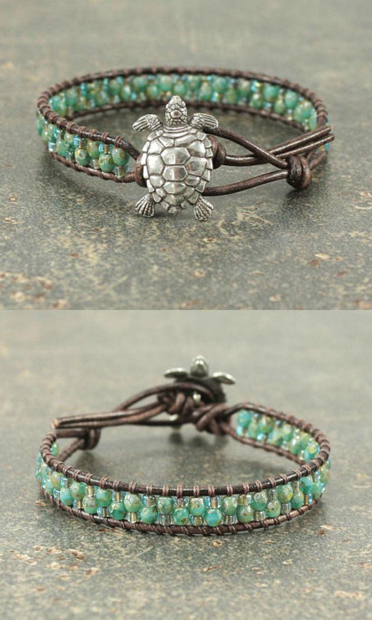 Leather Turtle Bracelet, cute. #ad #Etsy #turtle