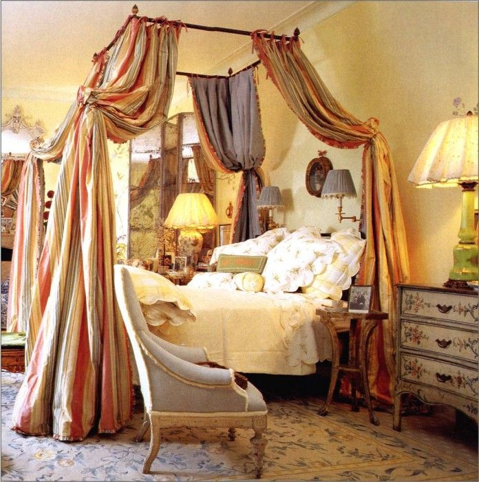 Mario buatta bedroom with iron canopy bed pure luxury Beautiful canopy beds