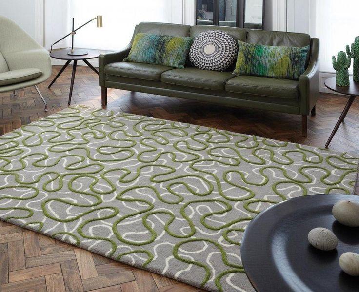 Details Zu Teppich Wohnzimmer Carpet Modernes Design SQUIGGLE ZICK ZACK RUG Wolle Gunstig