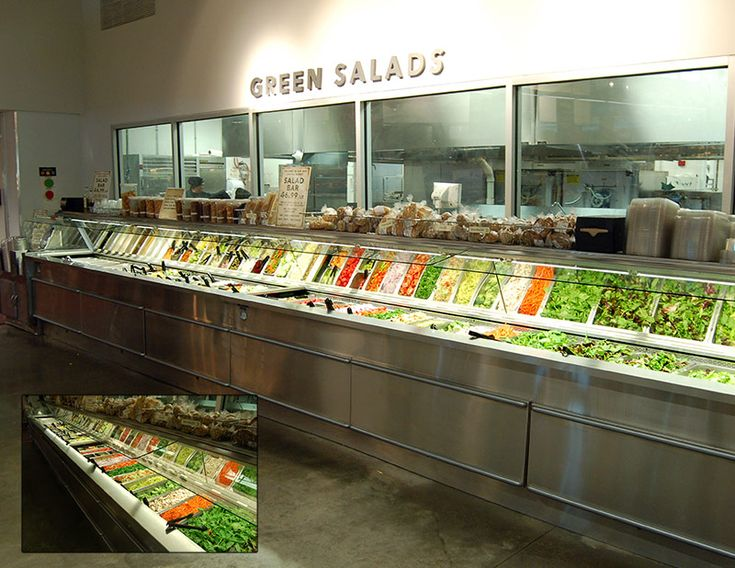 SSB-SS - Single-Sided Salad Bar:  Southern's SSB-SS food bar system offers a solution for any store where layout dictates a single sided food bar. With various hot and cold configurations and a large number of optional materials and finishes, the SSB-SS can be the centerpiece of your fresh foods program and is suitable for salads, fruit, buffet, take-home, or ready to consume items.