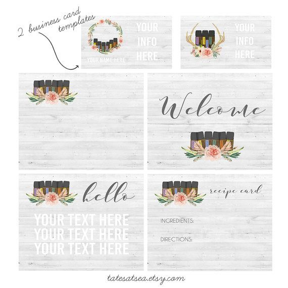 Doterra Marketing Images + 2 Business Card Templates | 6 files