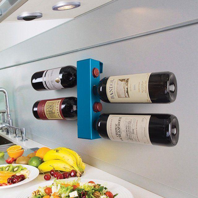 Kitchen wall wine rack