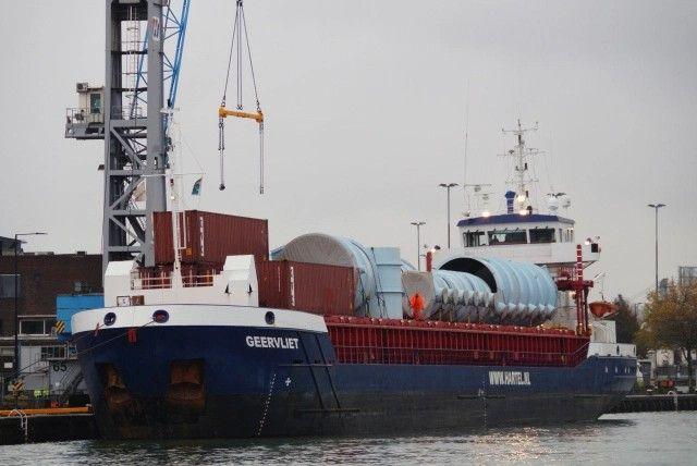 """Buque: """"GEERVLIET Año de construcción 2011, imon número 9536052, grt 2549 Propietario de la empresa de gestión ms Geervliet B.V., Rotterdam Gerente de Hartel Shipping & Chartering B.V., Rhoon Casco Brodogradiliste Sava D.D., Mitrova, Serbia Astilleros Damen completados Bergum B.V., Bergum / 9392 LxBxH 88,60 x 12,90 x 7,00 metros Potencia del motor: 2065 bhp. Velocidad 13,5 nudos. Identificativo: PCLI. Bandera: Holanda."""