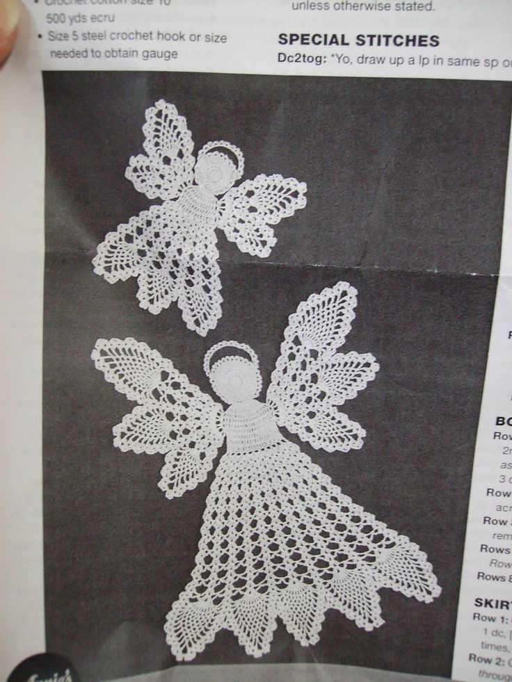 Pineapple Angel Crochet Pattern | Here is a pineapple angel doily kit I bought from Annie's Attic. The ...