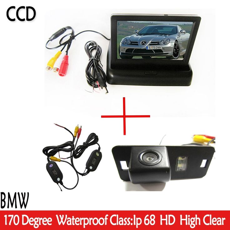 "47.90$  Buy now - http://ali7vj.shopchina.info/1/go.php?t=32378548619 - ""4.3"""" Auto Car Rear View Mirror Foldable Monitor Parking+ Car  Reverse  HD CCD Camera for BMW 1357 series X3 X5 X6 Z4 E39 E53 E46""  #aliexpresschina"