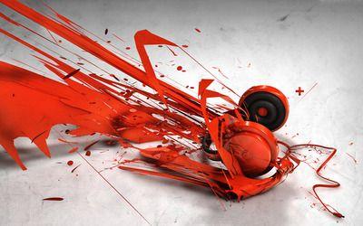 Red Headphones wallpaper