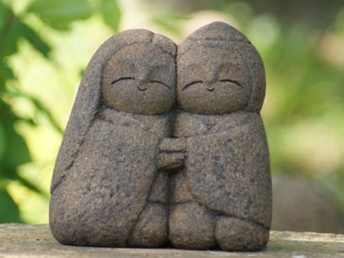 Japan-Collection-Healing-Ksitigarbha-made-of-Granite-JIZO-H-17-cm