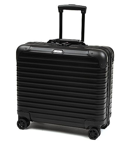 RIMOWA Topas Stealth four-wheel business trolley. #rimowa #bags #trolley #travel bags #