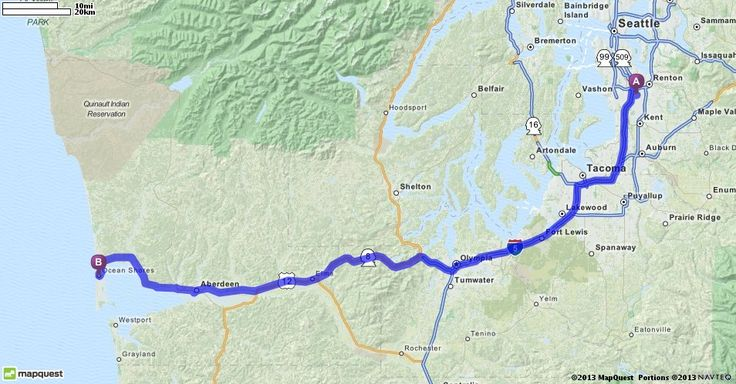 Driving Directions from 976 Industry Dr, Tukwila, Washington 98188 to Ocean Shores, Washington | MapQuest