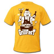 BBQ King - Grillfest Men's T-Shirt by American Apparel #Spreadshirt #Cardvibes #Tekenaartje #Grill