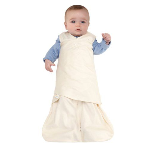 HALO SleepSack 100% Cotton Swaddle, Cream, Small: