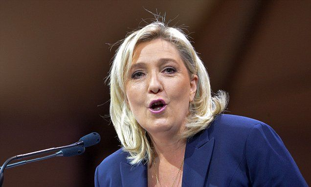 Marine Le Pen surges in polls and is twice as popular as Hollande  #DailyMail