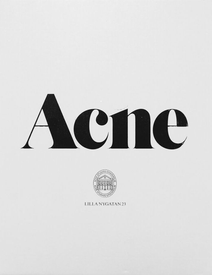 I have always had an affection for their logo / Acne Studios