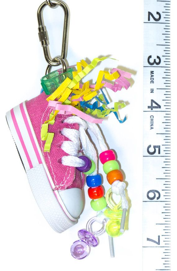 Mini Stuffed Beak Sneaker - Foraging Possibilities - Parrot Toys & Bird Toy Parts by A Bird Toy
