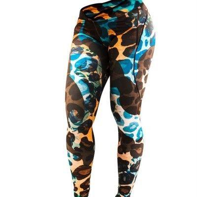Snygga, färgstarka träningstights från Blonde Destroyer med leopard tryck! ✔Träningskläder online ✔Fri frakt ✔Snabb leverans 2-4 dagar