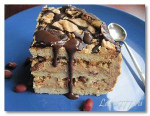 торт сникерс с безе пошаговый фото рецепт торт воздушный сникерс  | Lares777