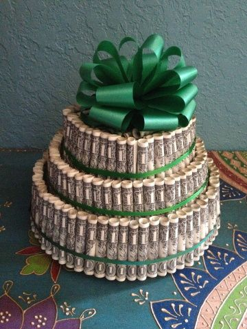 Money tree birthday ideas pinterest money cake for Crafts for birthdays as a gift