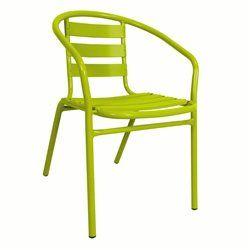 Lot de 2 fauteuils empilables bistrot alu ou m tal laqu - Salon de jardin bistrot pas cher ...
