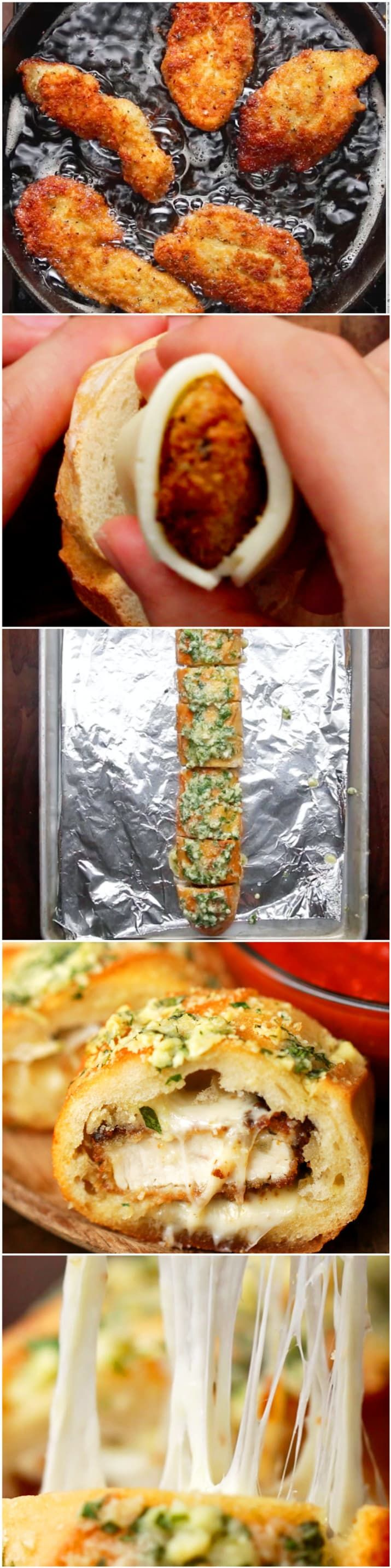 Your Taste Buds Are About To Scream With Happiness With This Chicken Parmesan Garlic Bread