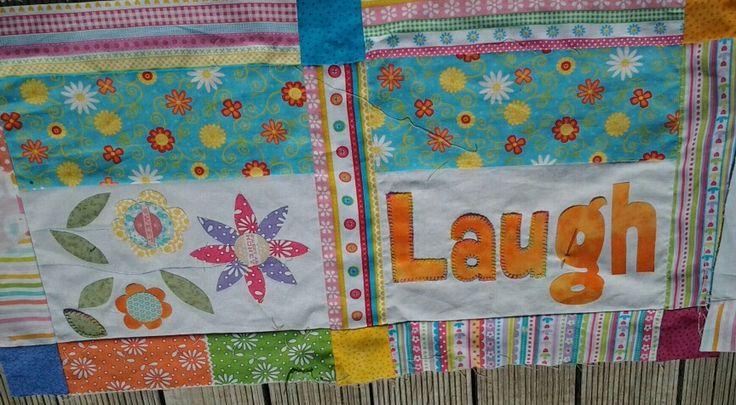 I am loving the verigated thread. Hand applique quilt  Joy Ott designs