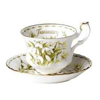 Royal Albert  Flower of the month  Tea cup & saucer di DoubleRandC