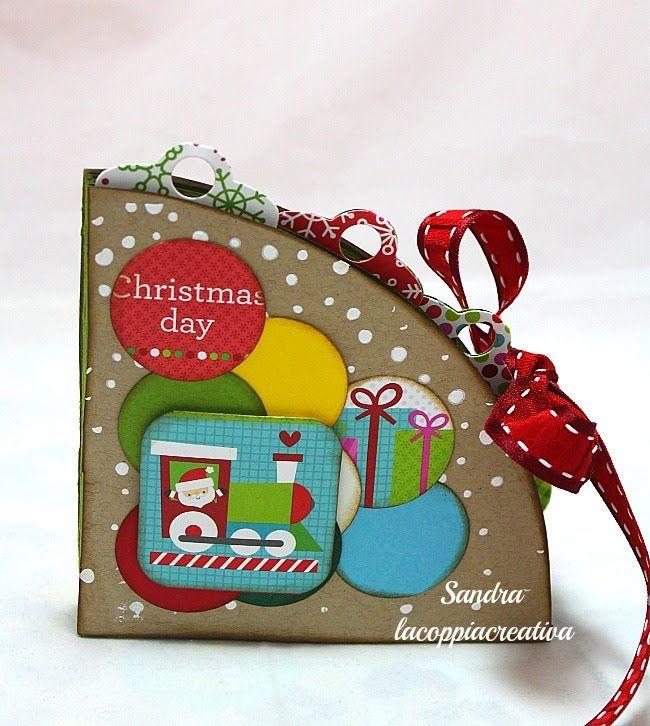 Circle book Tutorial-Mini Album Scrapbooking Tutorial-Natale Fai da te-C...