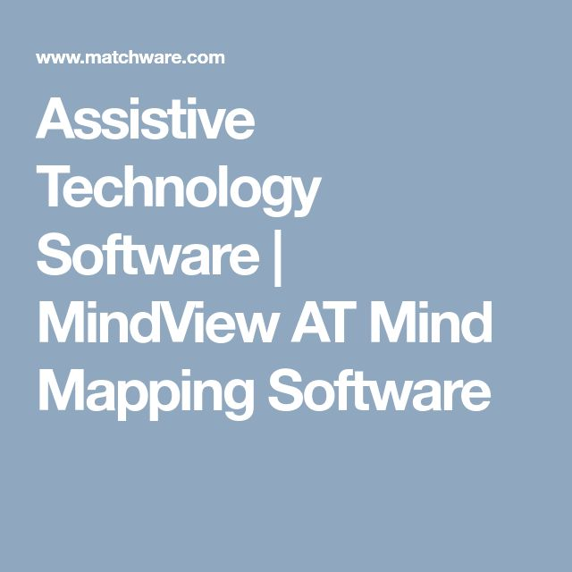 Assistive Technology Software   MindView AT Mind Mapping Software