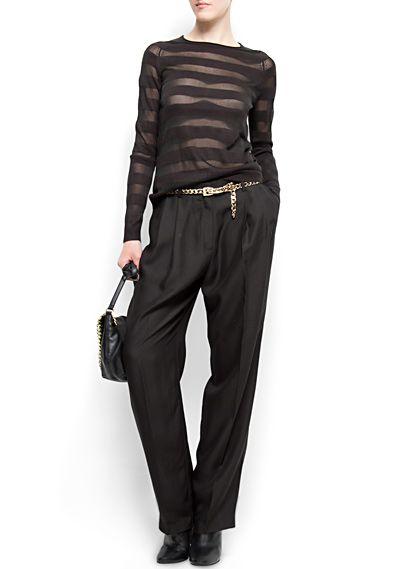 MANGO - CLOTHING - Trousers - Masculine-cut suit trousers
