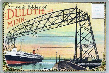 Vintage Souvenir Postcards Packet Of Duluth Minnesota