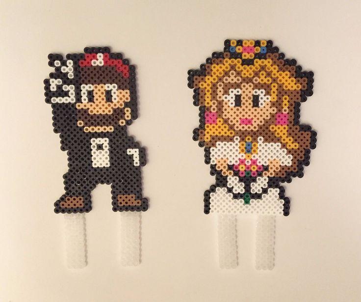 Pixel Art Wedding Cake : 226 best images about Hama beads on Pinterest Perler ...
