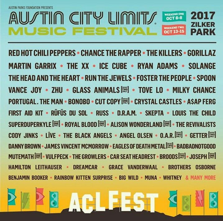 The 2017 Austin City Limits festival line up