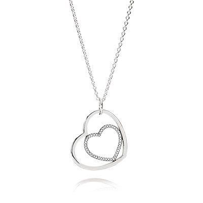 Liebesherzen-Halskette mit Anhänger