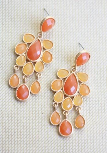 Season Of Love Earrings In Tangerine | Modern Vintage Jewelry