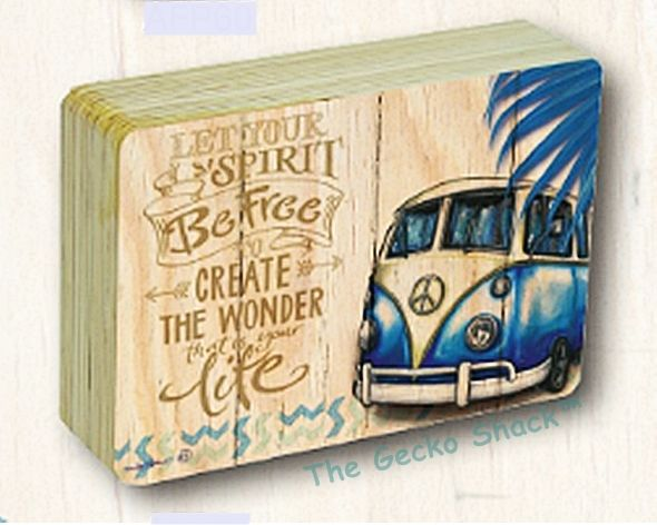 The Gecko Shack - Kombi Revival LET YOUR SPIRIT BE FREE CREATE THE WONDER THAT IS YOUR LIFE Affirmation Blocks 18 x 13cm by Lisa Pollock, $19.95 (http://www.geckoshack.com.au/kombi-revival-let-your-spirit-be-free-create-the-wonder-that-is-your-life-affirmation-blocks-18-x-13cm-by-lisa-pollock/)