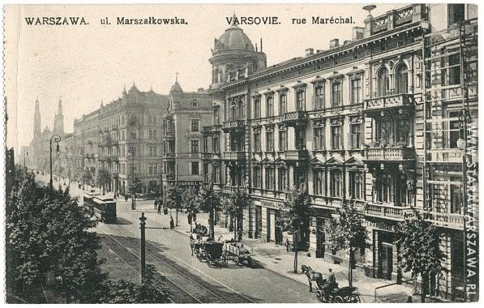 Marszałkowska Street postcard