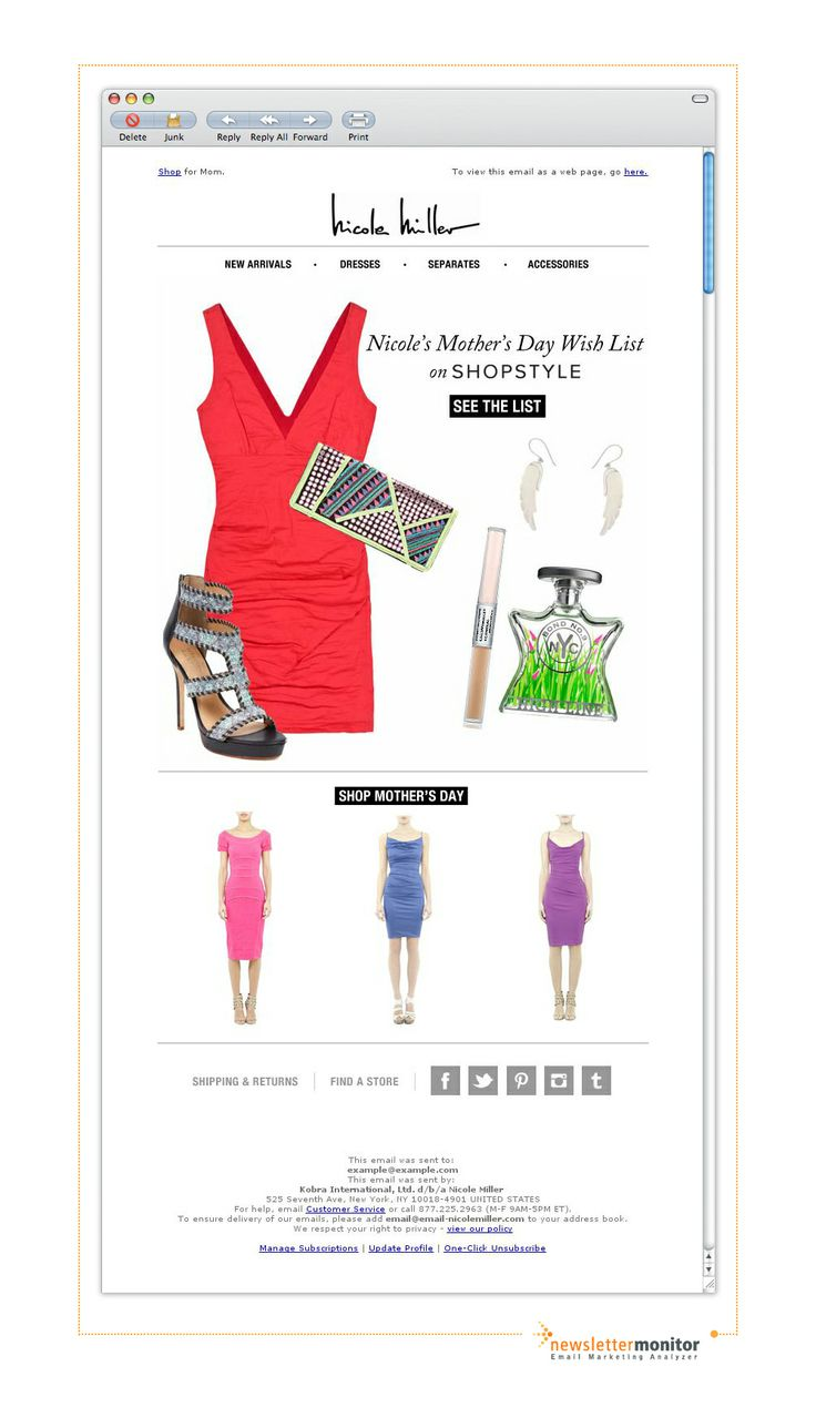 Brand: Nicole Miller | Subject: Nicole's Mother's Day Wish List