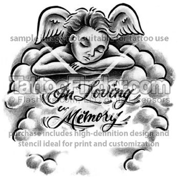 in loving memory tattoo ideas in loving memory tattoo design by jynx. Black Bedroom Furniture Sets. Home Design Ideas