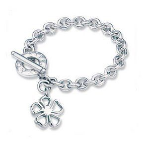 Tiffany & Co Outlet Floral Tag Toggle Bracelet