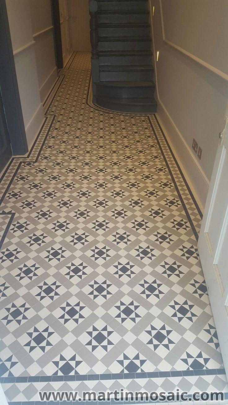 Unglazed Victorian floor tiles